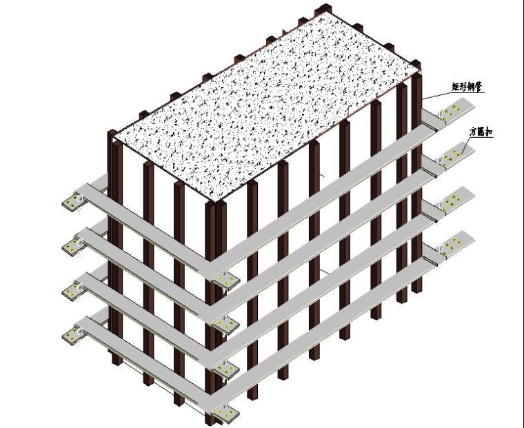 水雪综合体工程高大模板支撑体系施工方案-23方圆扣加固示意图