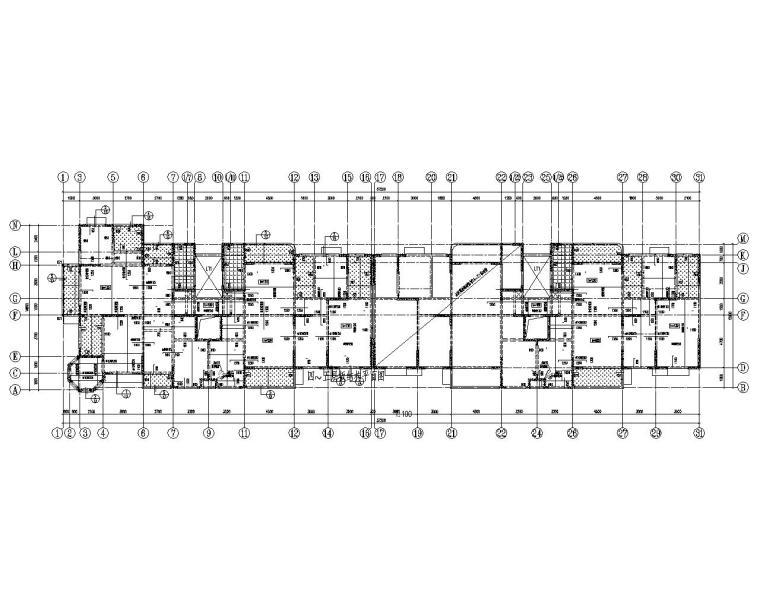 六层混凝土剪力墙住宅结构施工图(CAD)