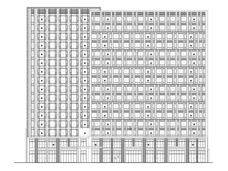 [上海]高层酒店+多层书店建筑结构施工图