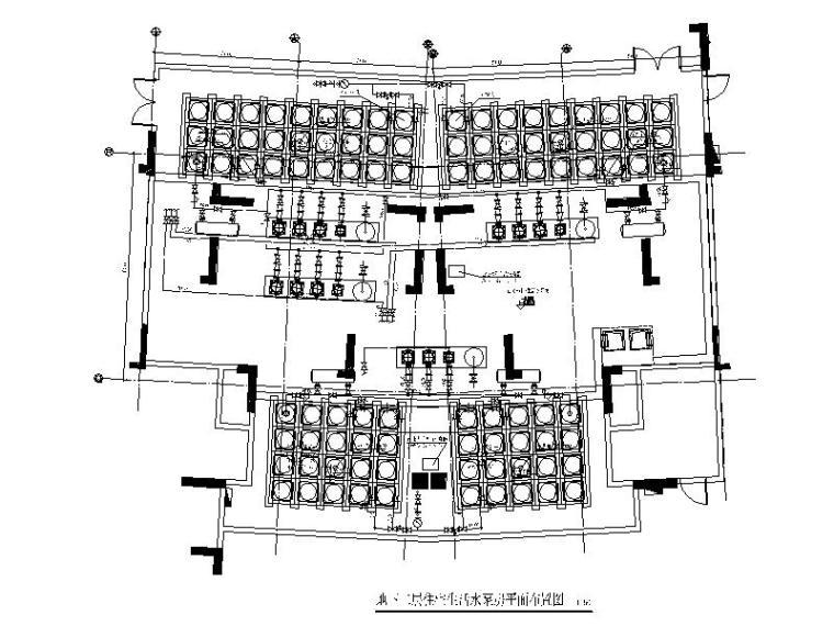 住宅建筑生活水泵房大样图CAD
