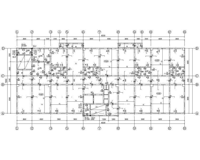 某七层住宅小区结构施工图(CAD)