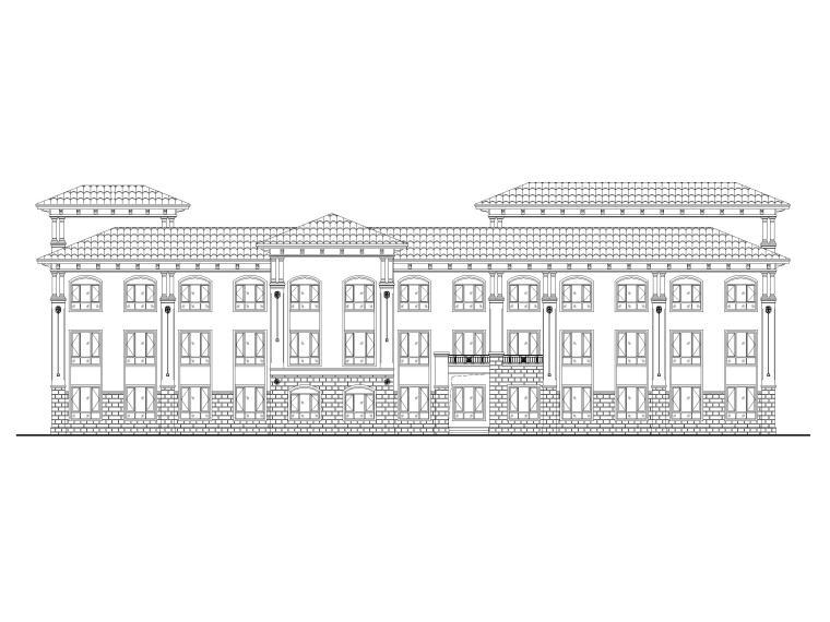 三层9班幼儿园建筑方案图(CAD)