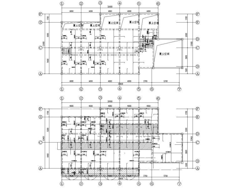 某四层酒店混凝土框架结构施工图(CAD)