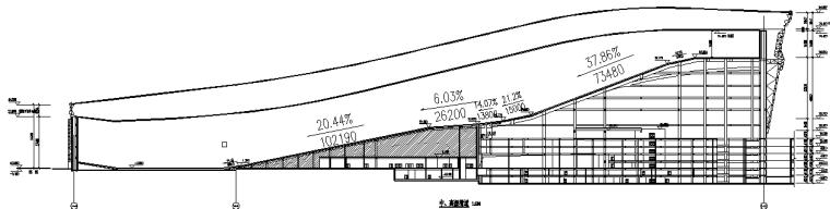 水雪综合体工程高大模板支撑体系施工方案-18中高级滑道剖面