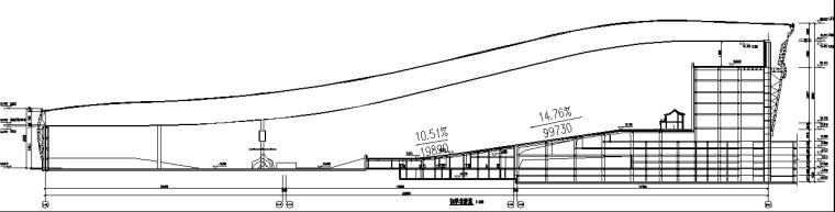 水雪综合体工程高大模板支撑体系施工方案-19初学者滑道剖面