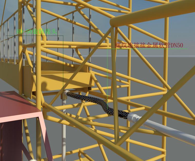施工现场塔吊喷淋系统Revit模型及标准工艺