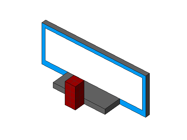 施工现场临时设施讲评台Revit模型(2014)