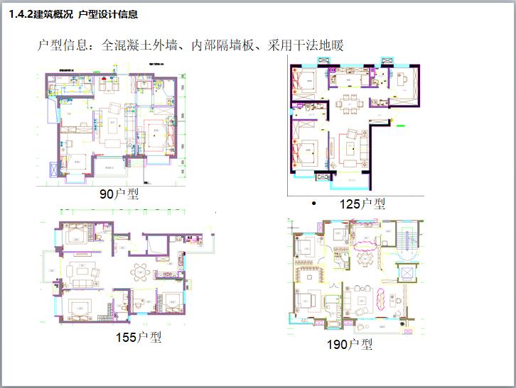 建筑概况 户型设计信息