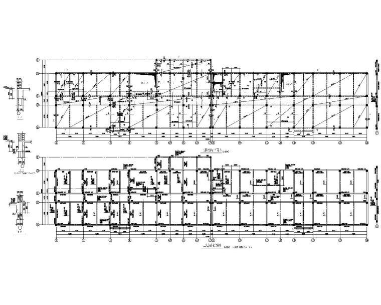 某市五层综合办公楼框架结构施工图(CAD)