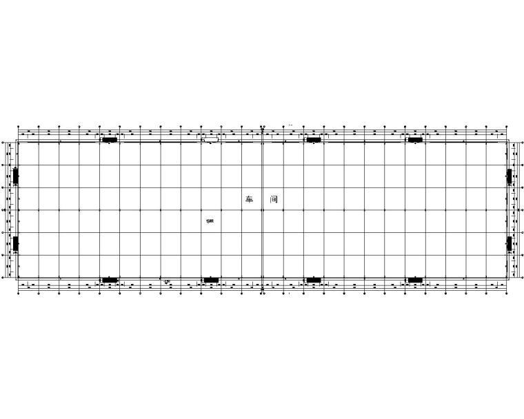 双跨厂房单层门式钢架结构施工图(CAD)