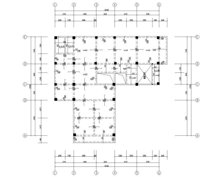 小型私人五层住宅混凝土结构施工图(CAD)