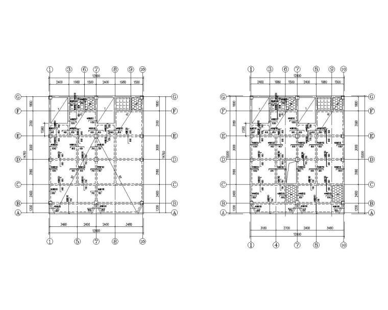某五层私人别墅混凝土结构施工图(CAD)