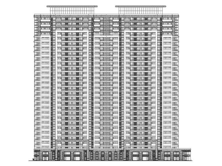 高层住宅_商业及公建配套用房建筑施工图