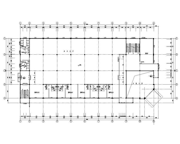 三层框架结构办公楼施工图(CAD含建筑图)