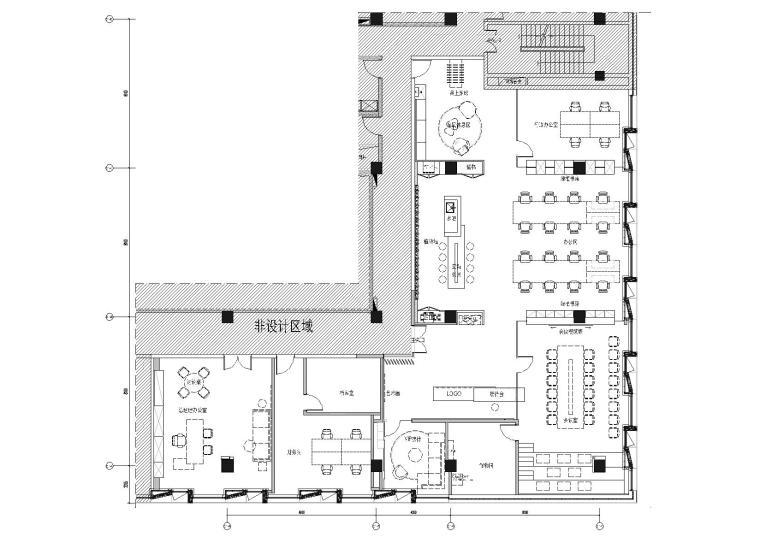 [上海]649㎡现代运营办公室施工图+效果图