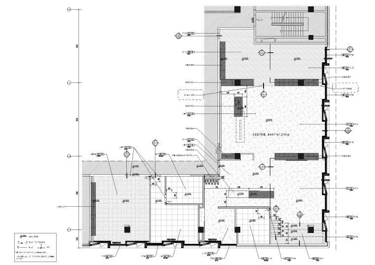 [上海]649㎡现代运营办公室施工图+效果图-地面铺装图