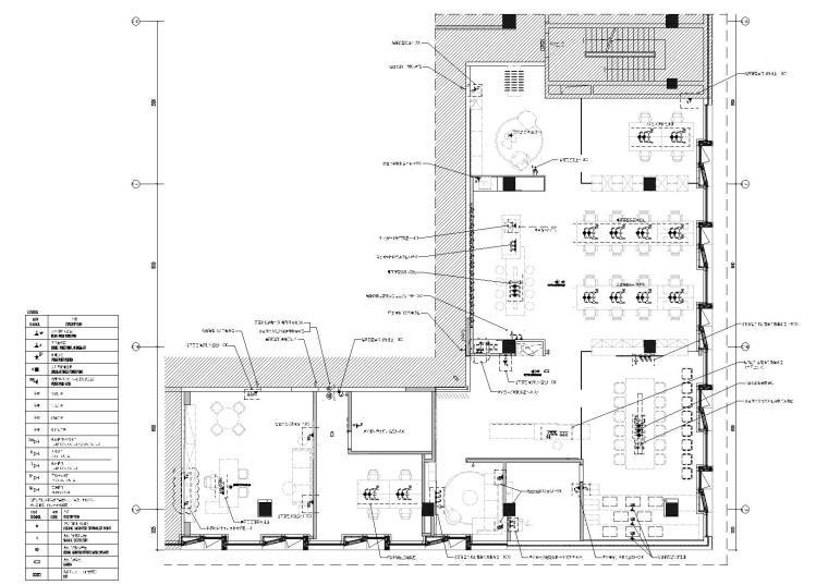 [上海]649㎡现代运营办公室施工图+效果图-强弱电点位图