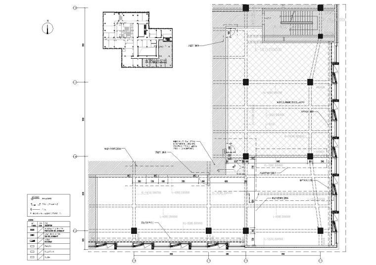 [上海]649㎡现代运营办公室施工图+效果图-原始平面图
