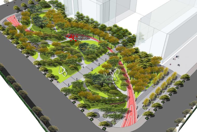 [上海]体验式绿地市政公园景观设计方案