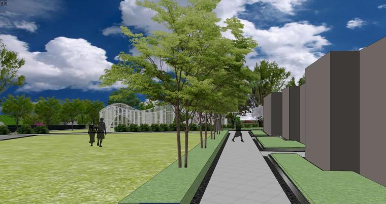 南京天域游客中心示范区建筑模型 (2)