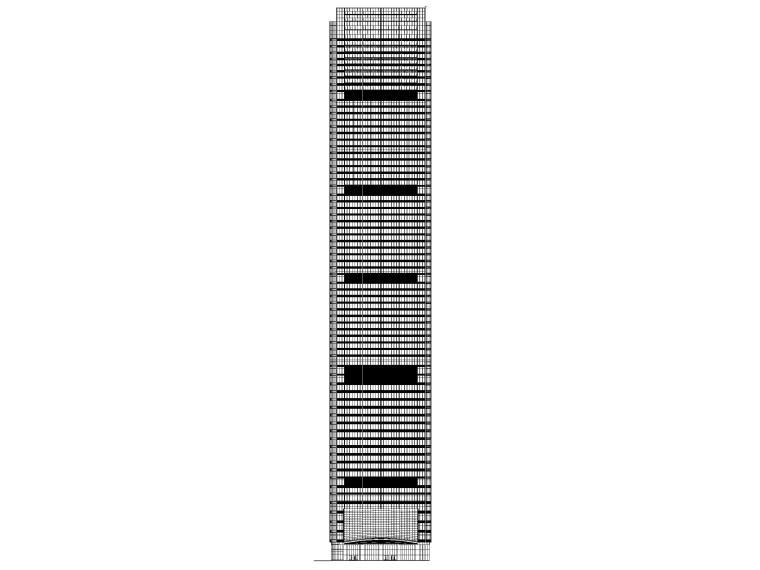 淮安超高层商业_办公_公寓塔楼建筑施工图