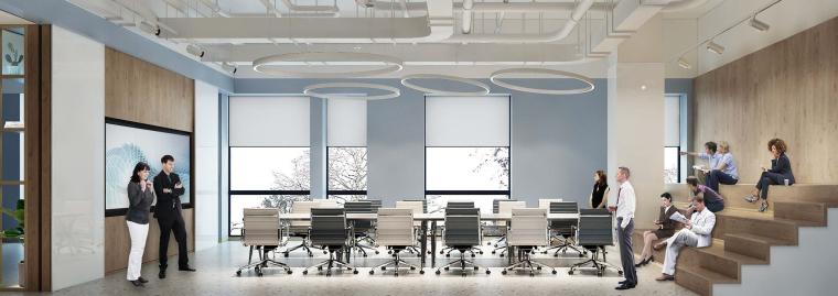 [上海]649㎡现代运营办公室施工图+效果图-设计脑 (2)