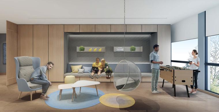 [上海]649㎡现代运营办公室施工图+效果图-设计脑 (6)