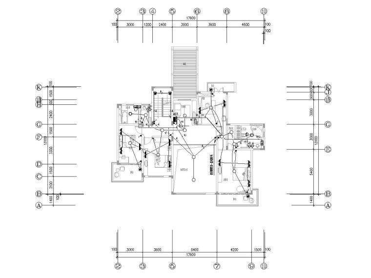 大院_上海某户型别墅电气设计图纸