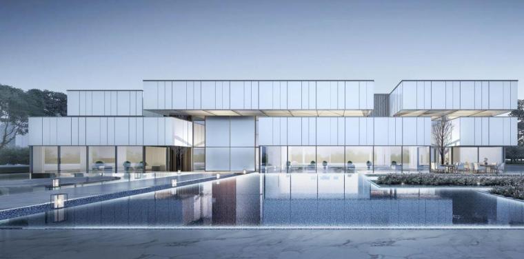 知名企业现代风格示范区建筑方案设计