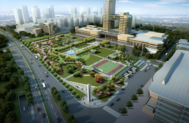 (湖南)四层框架结构广场改造施工测量方案