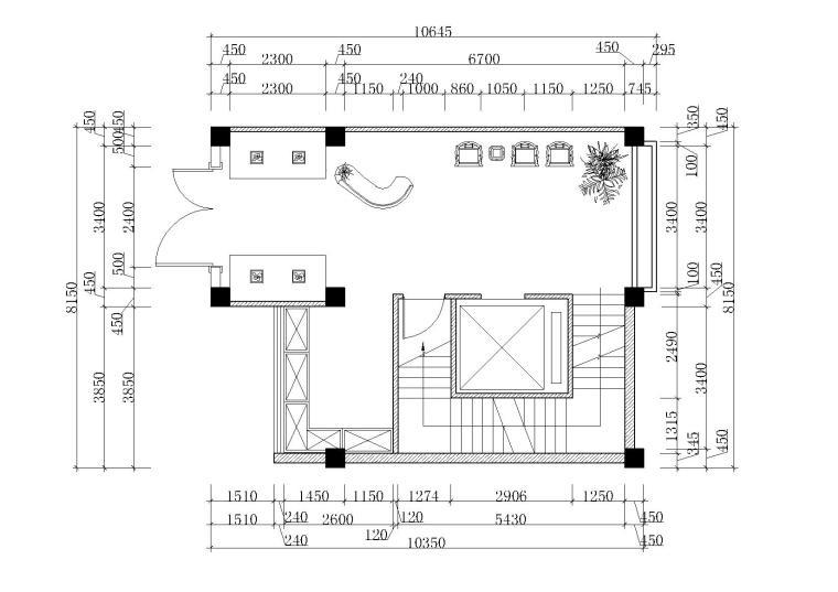 两层740㎡左右中式餐饮店CAD+3D模型+效果图