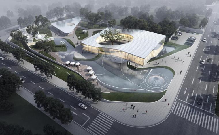 [山东]知名企业现代风格示范区建筑设计