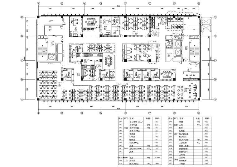 [武汉]新东方1350㎡办公空间施工图+SU模型