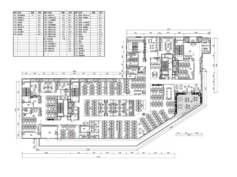 [重庆]新东方1392㎡办公空间PDF图纸+SU模型