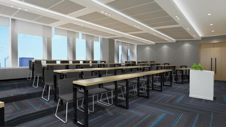 [武汉]新东方1350㎡办公空间施工图+SU模型-会议室