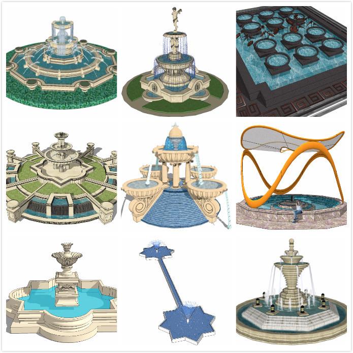 30套常用景观雕塑、廊架、树池等SU模型推荐-未命名_meitu_1