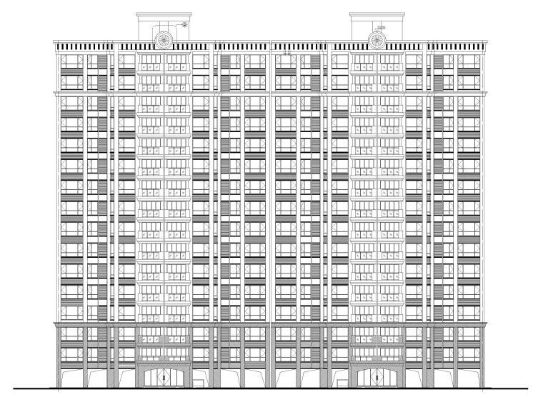 [广东]高层住宅楼建筑施工图(16~18层)