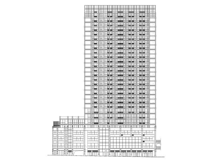 多层商业建筑及高层商住建筑施工图