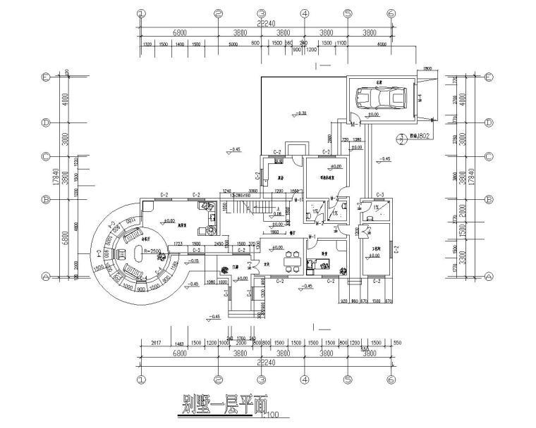 二层砖混小别墅结构施工图(CAD含建筑图)