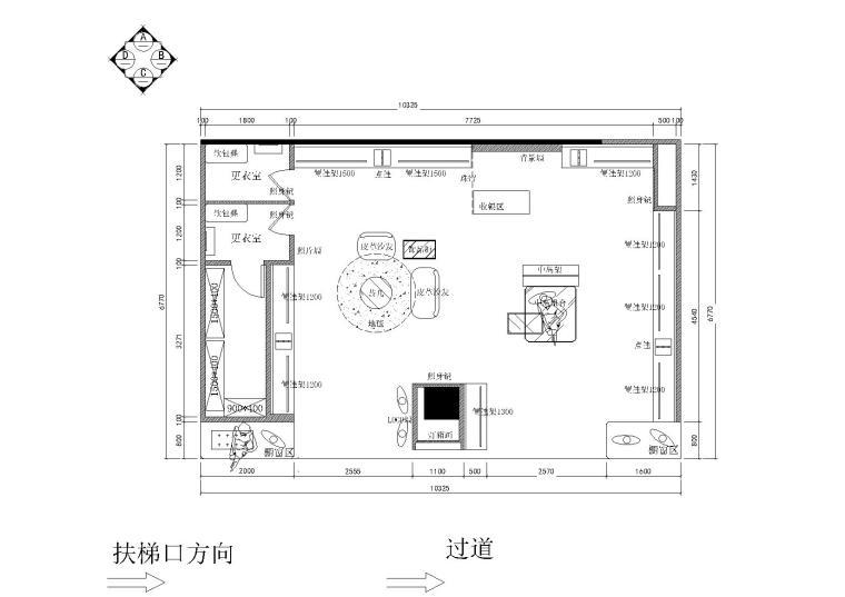 [浙江]宁波奉化某一服装店施工图_附效果图