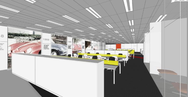 上海保时捷办公空间_设计方案PDF版+效果图