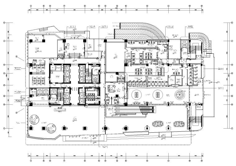 [福建]海峡银行办公大楼设计施工图+效果图
