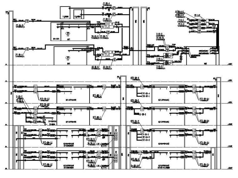 地下部分通风、空调、防排烟系统原理图