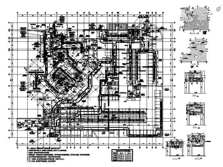 地下五层通风空调防排烟平面图