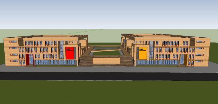 [安徽]合肥现代风格中心建筑模型设计