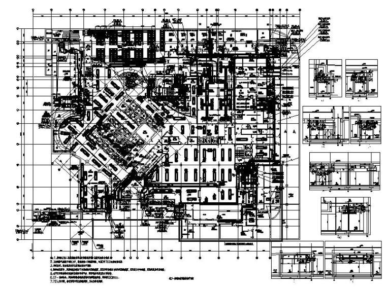 [北京]超高层甲级办公楼_商业暖通施工图
