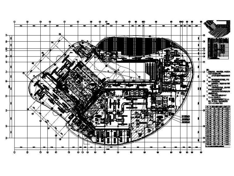 二层通风、空调、防排烟系统平面图