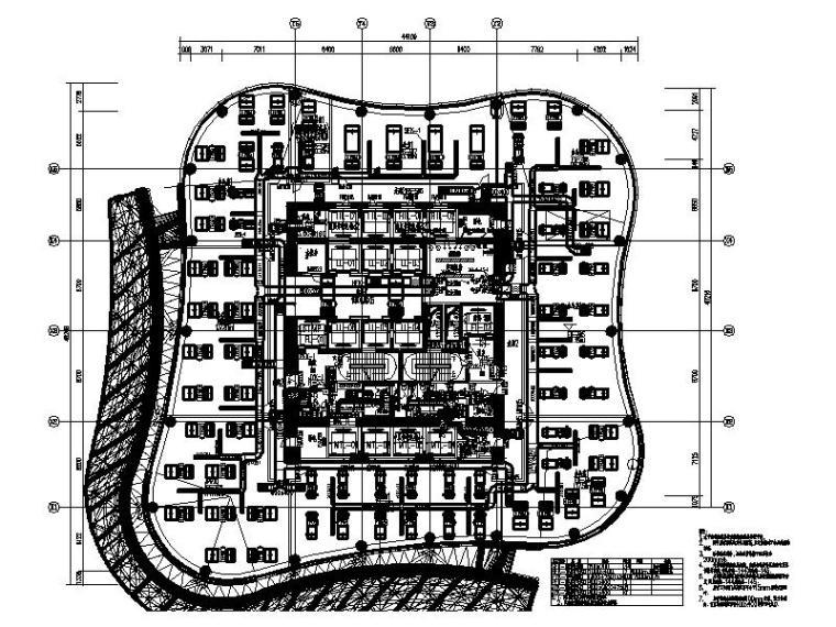 六,八,十,十二层 通风、空调、防排烟系统平面图