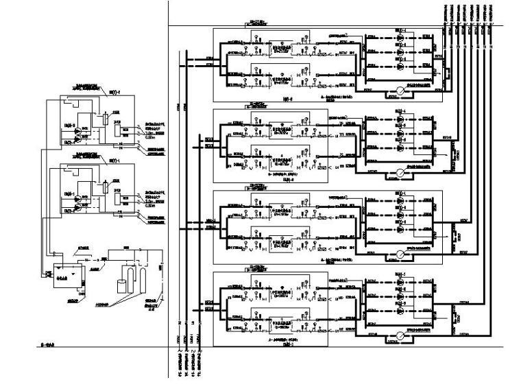 中区、高区供冷供热系统原理图