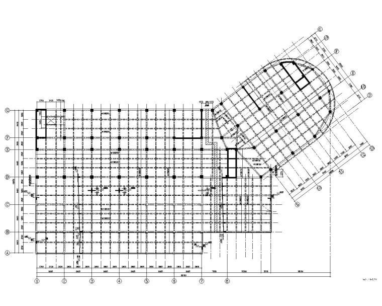 某技术中心试验楼混凝土结构施工图(CAD)